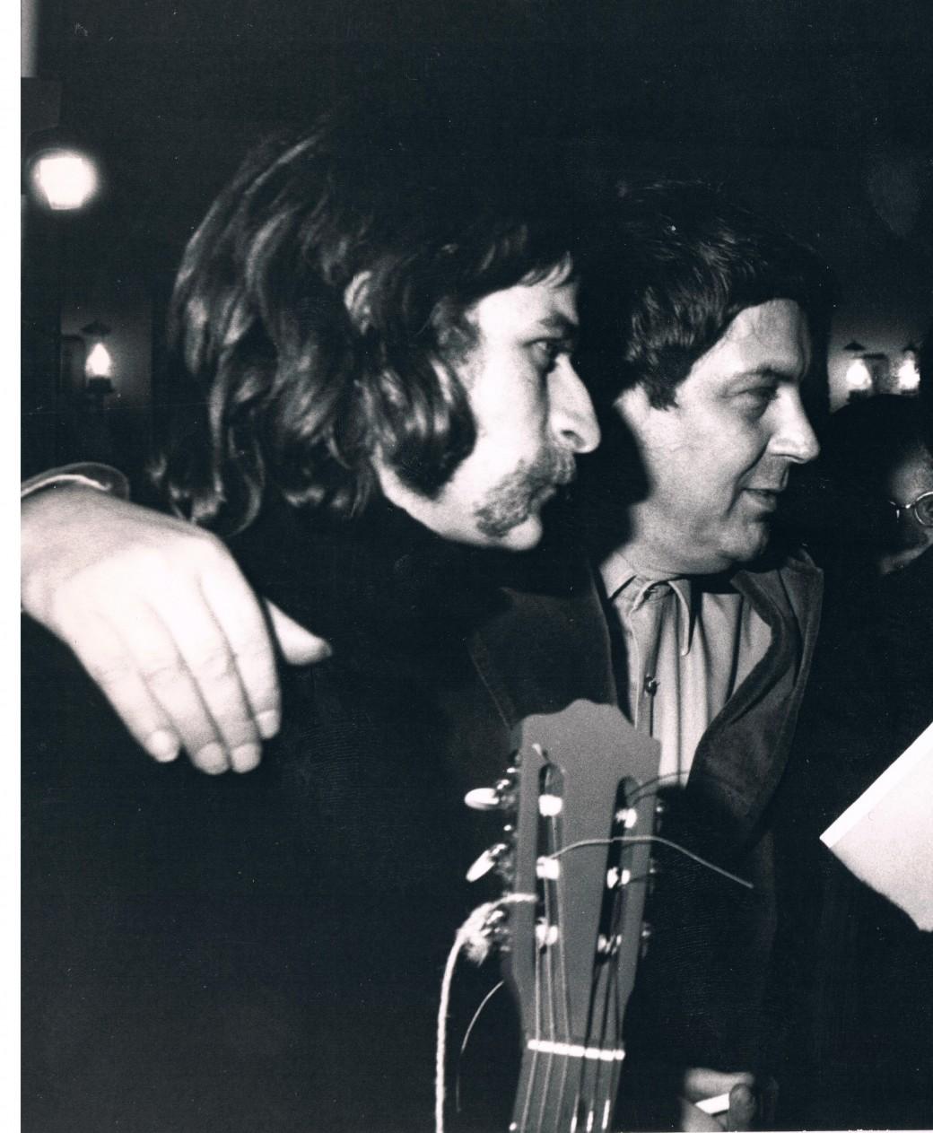 Hubert Félix Thiéfaire et Jean-Pierre Rosnay au Club des Poètes