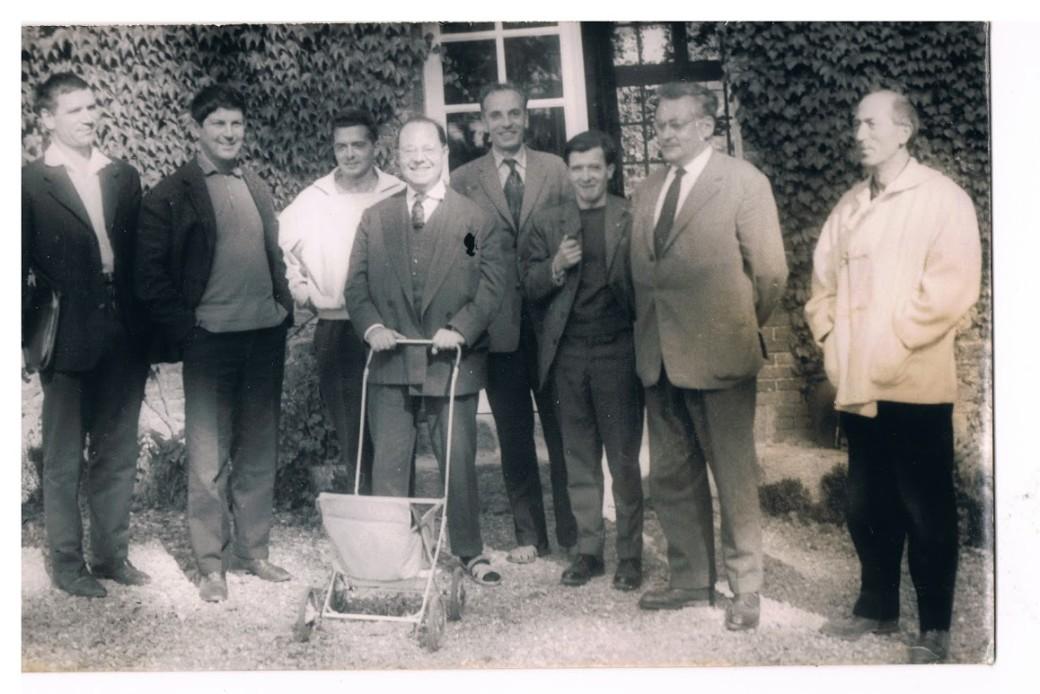 Cerisy-La-Salle, 1960 avec Raymond Queneau, jean-Pierre Rosnay, François Le Lyonnais, etc.